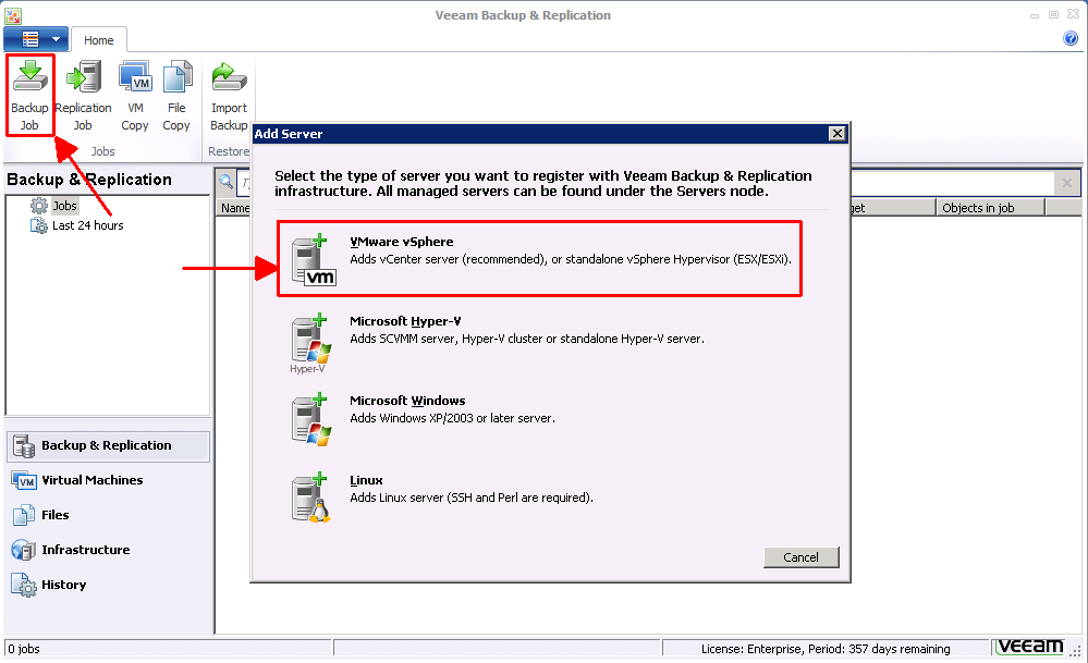 First Look: Veeam Backup & Replication 6 1 | Virten net