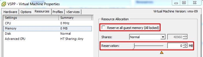 memory_reservation_vSphere_client
