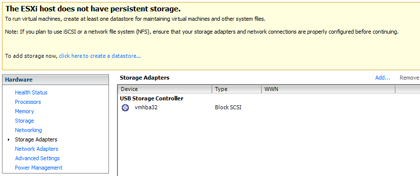 esxi-5-5-on-nuc-no-storage