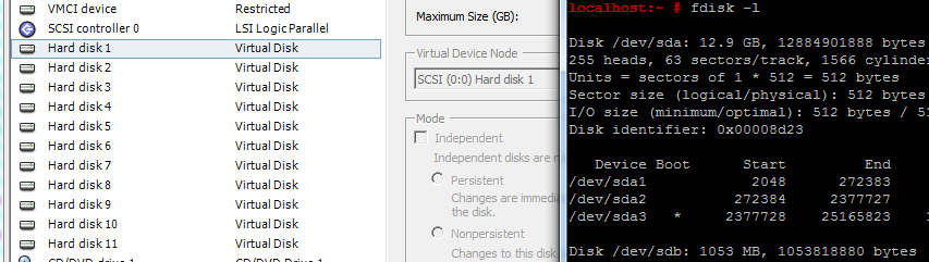 Match Linux SCSI Devices (sdX) to Virtual Disks in VMware