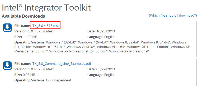 Download-Intel-Integrator-Toolkit