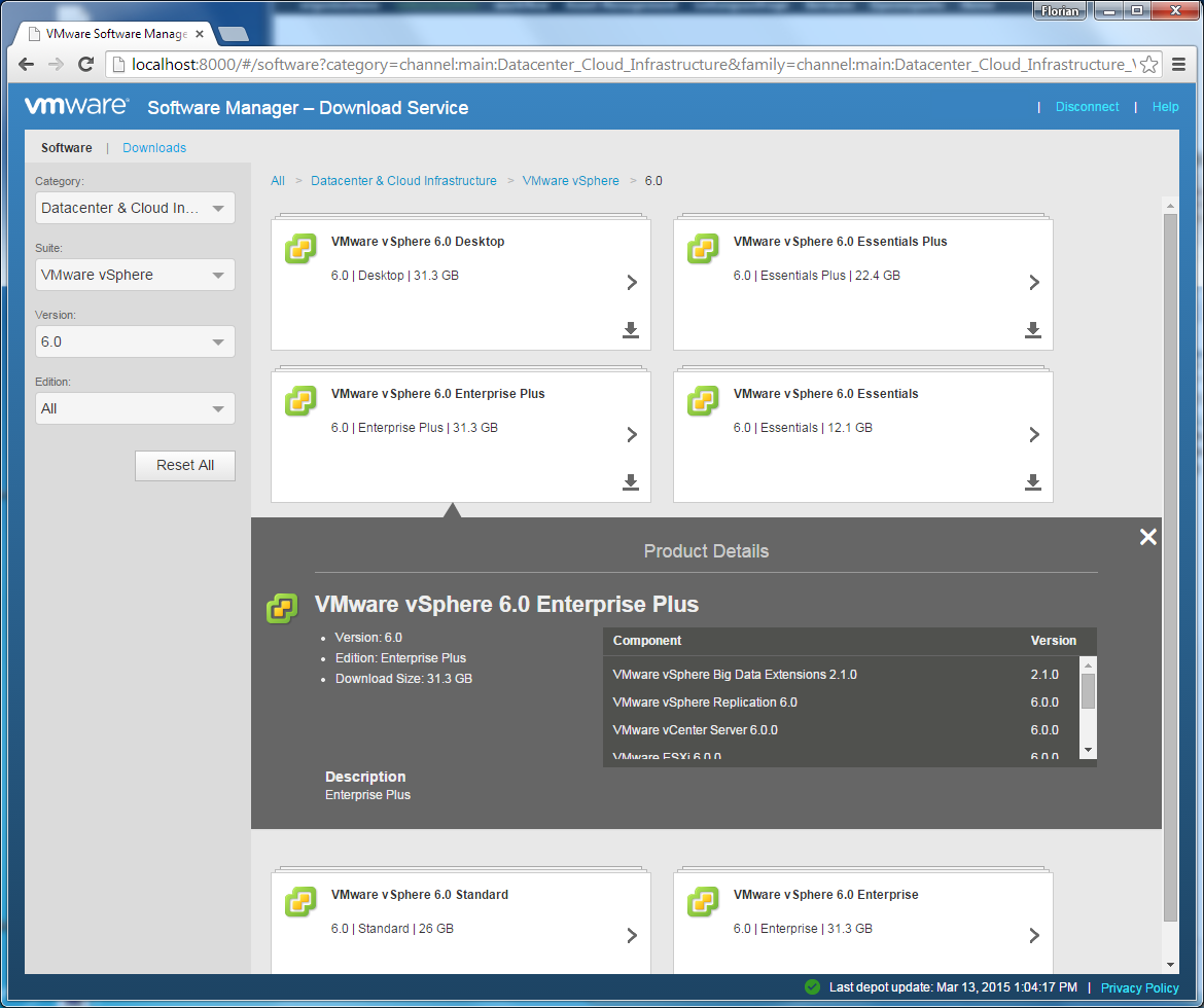 VMware-Software-Manager-Categories-details