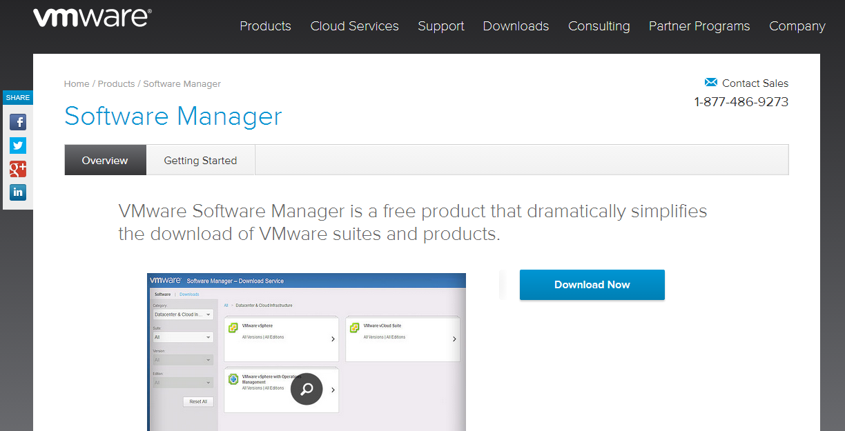 VMware-Software-Manager-website