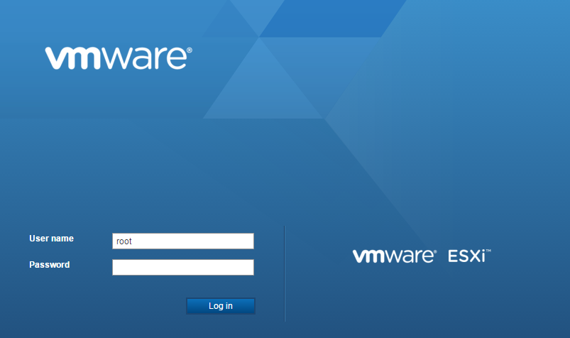 vmware-host-client-login-screen