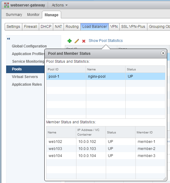 nsx-load-balancer-pool-status
