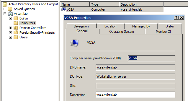 How to Join the vCSA 6 5/6 7 to an Active Directory Domain   Virten net