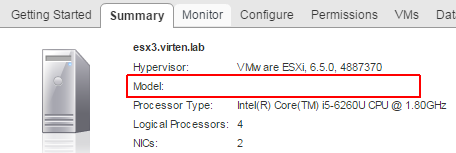 Intel NUC – Blank Manufacturer and Model in ESXi Summary Tab