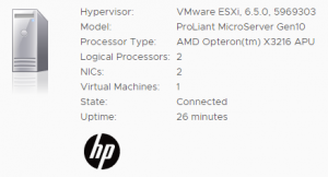 Homeserver – ESXi on HPE ProLiant MicroServer Gen10 | Virten net